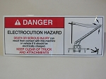 Electrocution Hazard Decal - Large