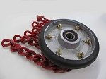 Onspot Automatic Tire Chain Assembly, Left, 170mm, Red