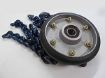 Onspot Automatic Tire Chain Assembly, Right, 170mm, Blue