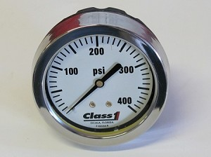 "Class 1 2.5"" 0-400 PSI White Face Gauge"